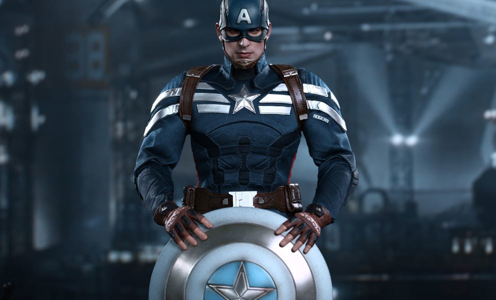 Gallery Feature Image of Captain America - Stealth S.T.R.I.K.E. Suit Sixth Scale Figure - Click to open image gallery