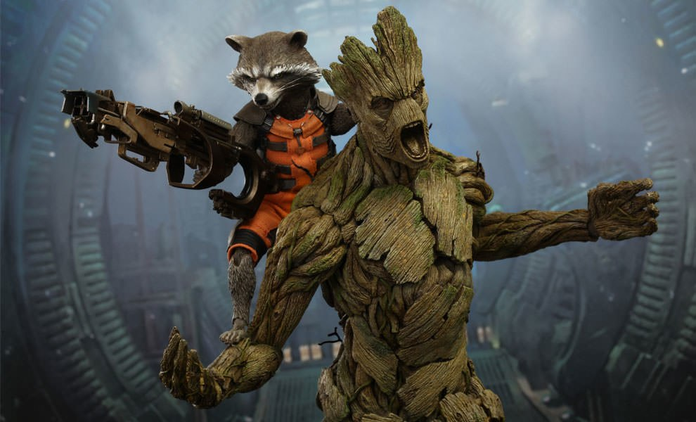 Gallery Feature Image of Rocket and Groot Sixth Scale Figure - Click to open image gallery