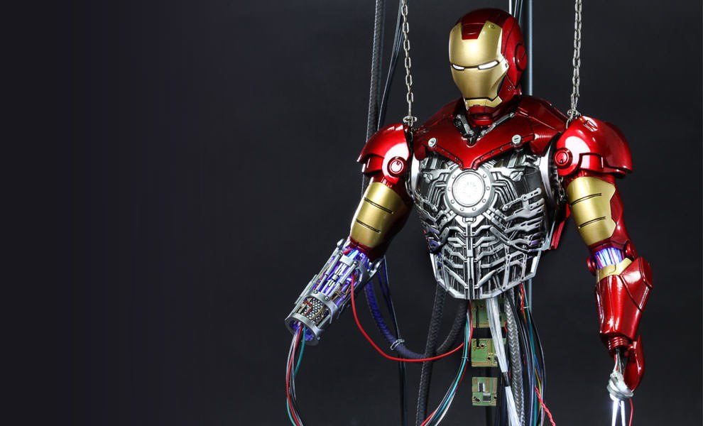 Gallery Feature Image of Iron Man Mark III Construction Version Sixth Scale Figure - Click to open image gallery