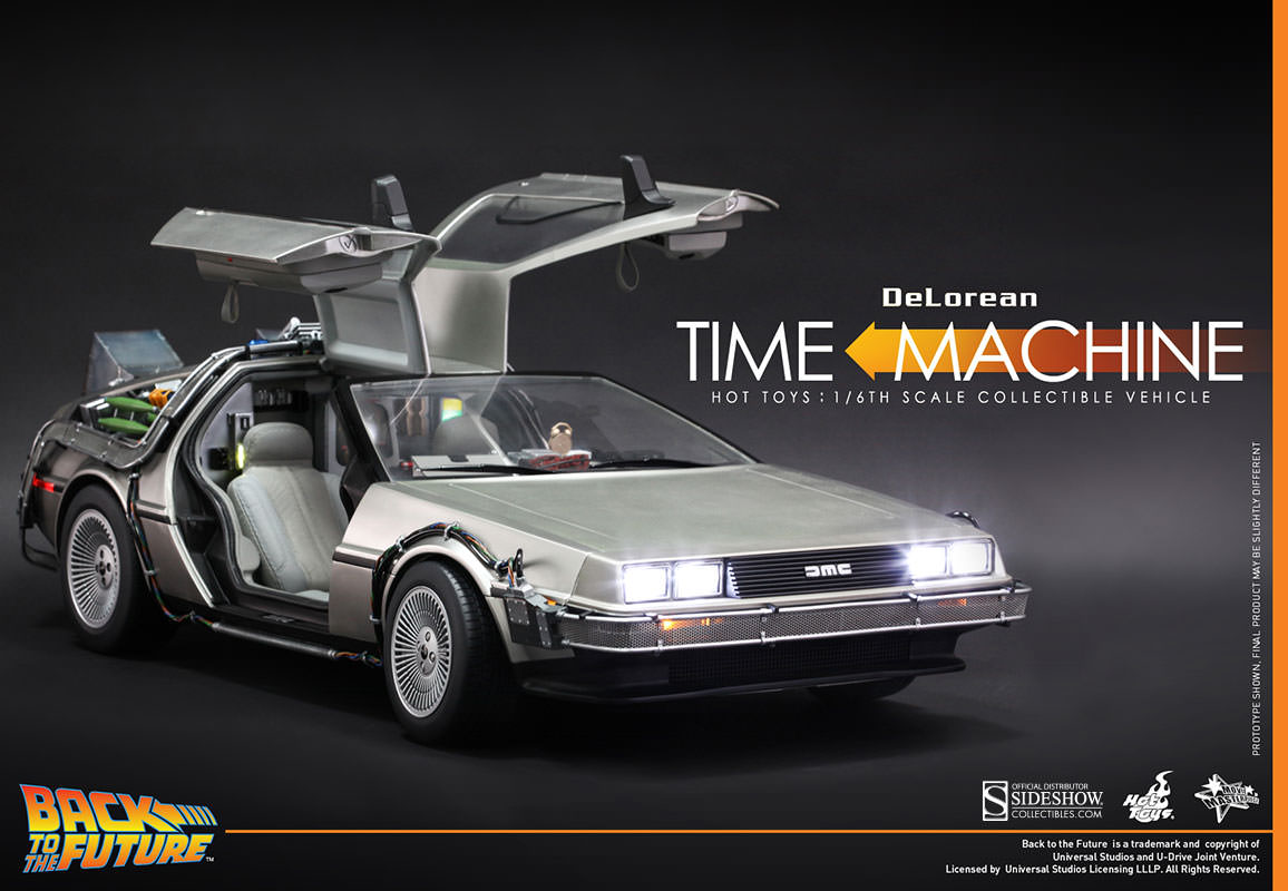 Back to the Future DeLorean Sixth Scale Figure Related Prod