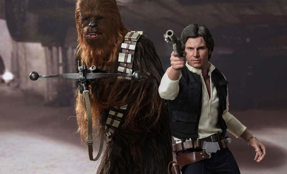 Gallery Feature Image of Han Solo and Chewbacca Sixth Scale Figure - Click to open image gallery