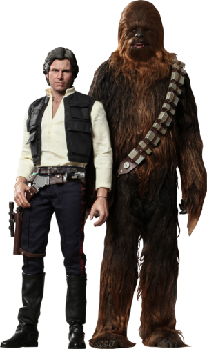 Han Solo and Chewbacca Sixth Scale Figure