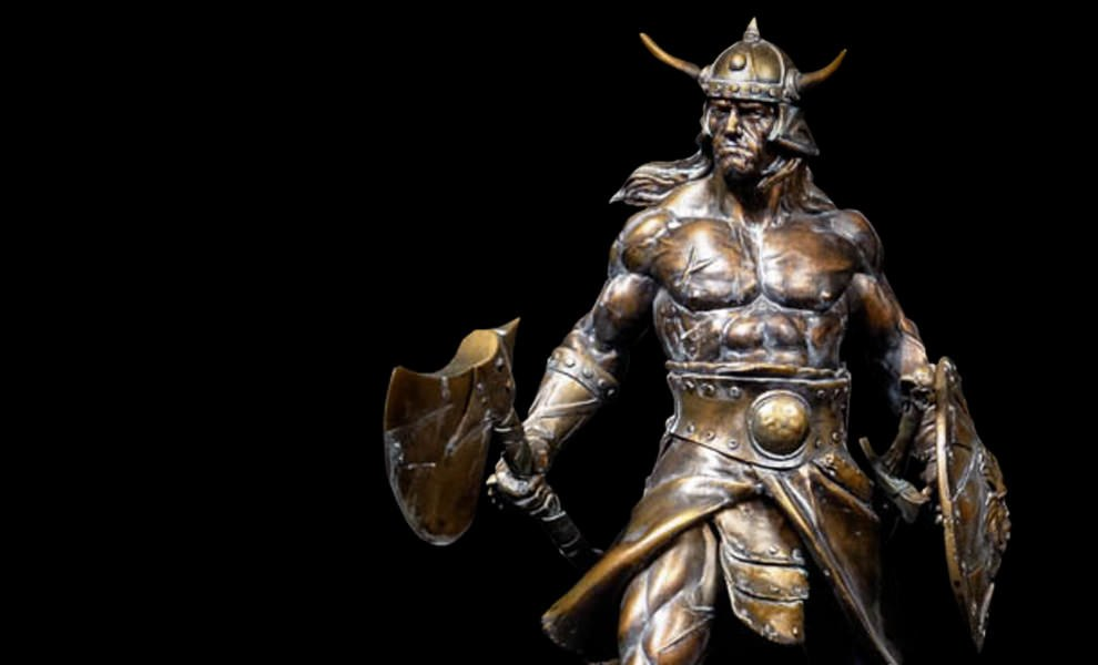 Gallery Feature Image of Conan the Brutal Faux Bronze Statue - Click to open image gallery