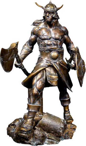 Quarantine Studio Conan the Brutal Faux Bronze Statue