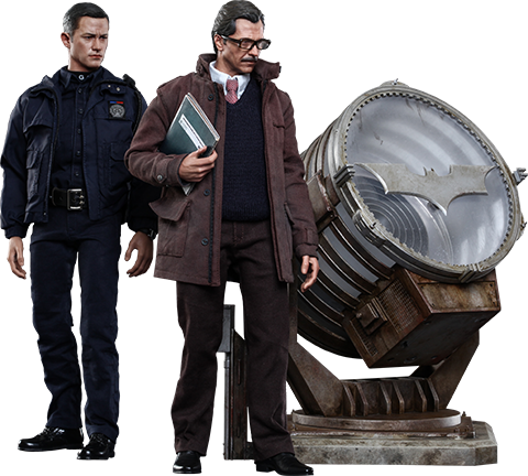 Hot Toys John Blake and Jim Gordon with Bat-Signal Collectible Set