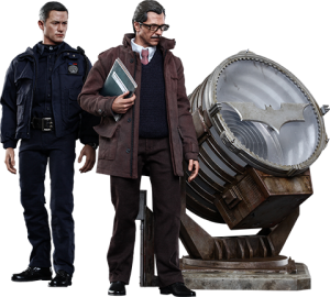 John Blake and Jim Gordon with Bat-Signal Collectible Set