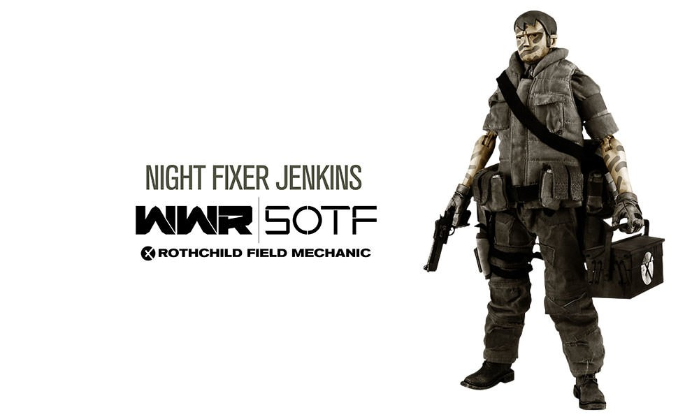 Gallery Feature Image of WWR Rothchild Field Mechanic - Night Fixer Jenkins Sixth Scale Figure - Click to open image gallery