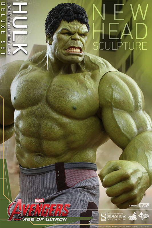 "Custom Hulk Age of Ultron Head Sculpt 1//6 Head For 12/"" Hot Toys Action Figure"