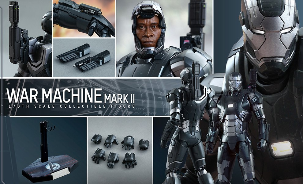 Gallery Feature Image of War Machine Mark II Sixth Scale Figure - Click to open image gallery