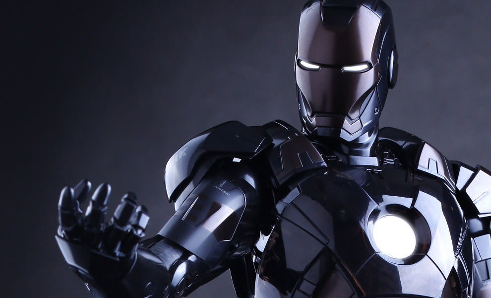 Gallery Feature Image of Iron Man Mark VII Stealth Mode Version Sixth Scale Figure - Click to open image gallery