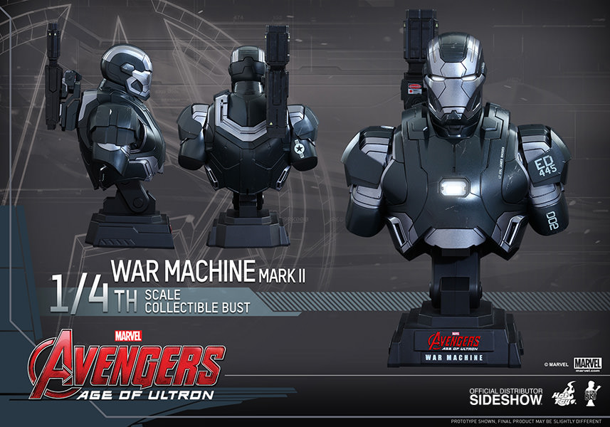 Marvel War Machine Mark Ii Quarter Scale Collectible Bust By