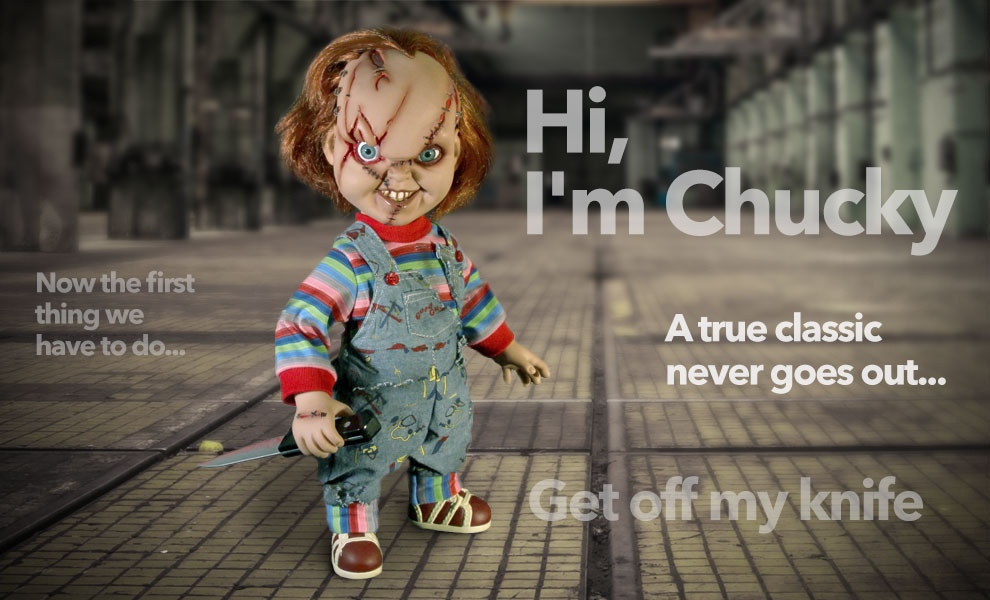 Gallery Feature Image of Talking Chucky Collectible Figure - Click to open image gallery
