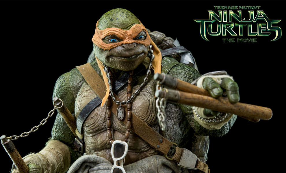 Gallery Feature Image of Michelangelo Sixth Scale Figure - Click to open image gallery