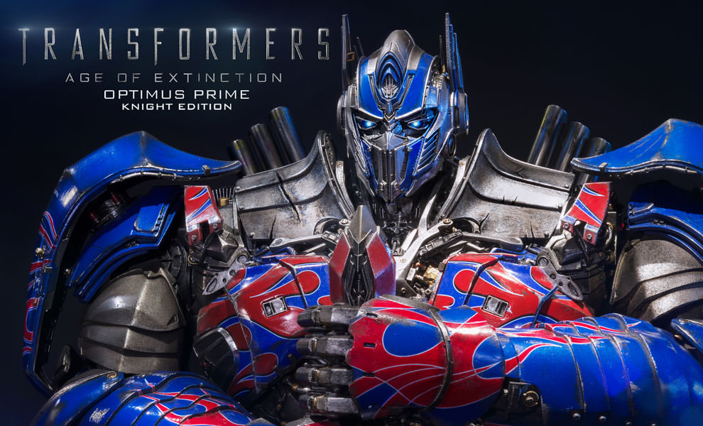 Gallery Feature Image of Optimus Prime Knight Edition Polystone Statue - Click to open image gallery