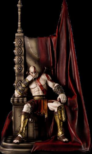 Kratos on Throne Statue