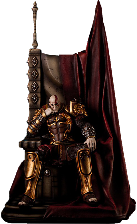 Gaming Heads Kratos on Throne Statue