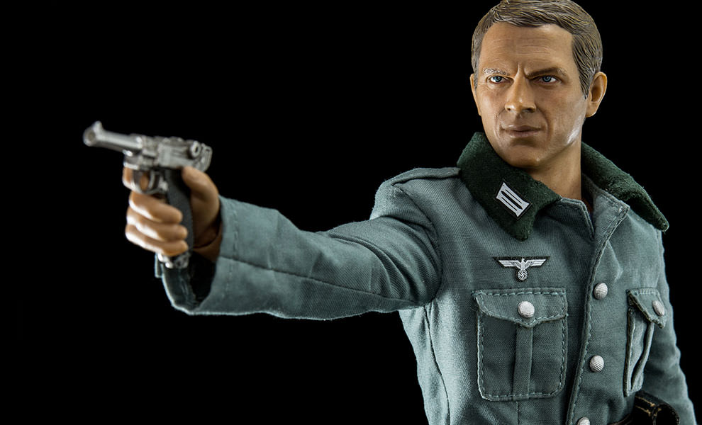 Gallery Feature Image of Steve McQueen Capt Virgil Hilts Deluxe Version Sixth Scale Figure - Click to open image gallery