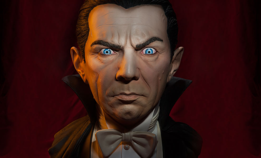 Gallery Feature Image of Classic Dracula Life-Size Bust - Click to open image gallery