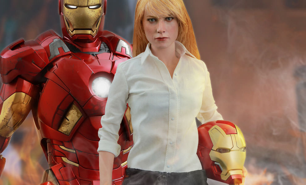 Gallery Feature Image of Pepper Potts and Mark IX Sixth Scale Figure - Click to open image gallery