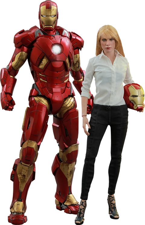 Hot Toys Pepper Potts and Mark IX Sixth Scale Figure