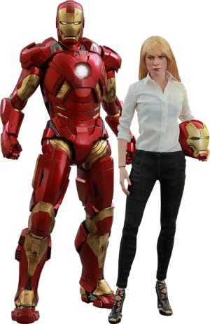 Pepper Potts and Mark IX Sixth Scale Figure