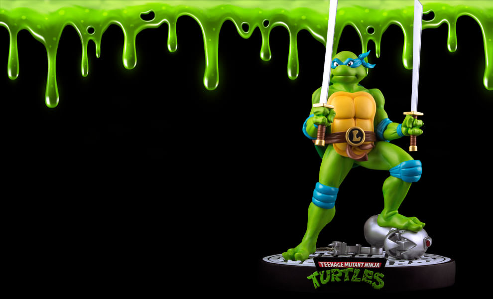 Tmnt Leonardo On Defeated Mouser Statue By Ikon Collectibles Sideshow Collectibles