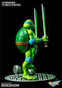 Gallery Image of Leonardo on Defeated Mouser Statue