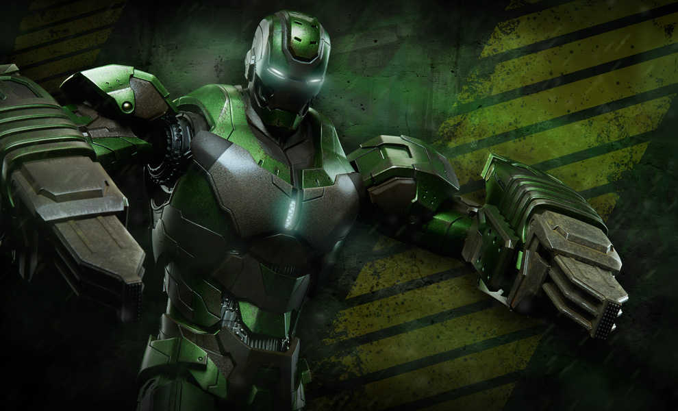 Gallery Feature Image of Iron Man Mark XXVI - Gamma Sixth Scale Figure - Click to open image gallery