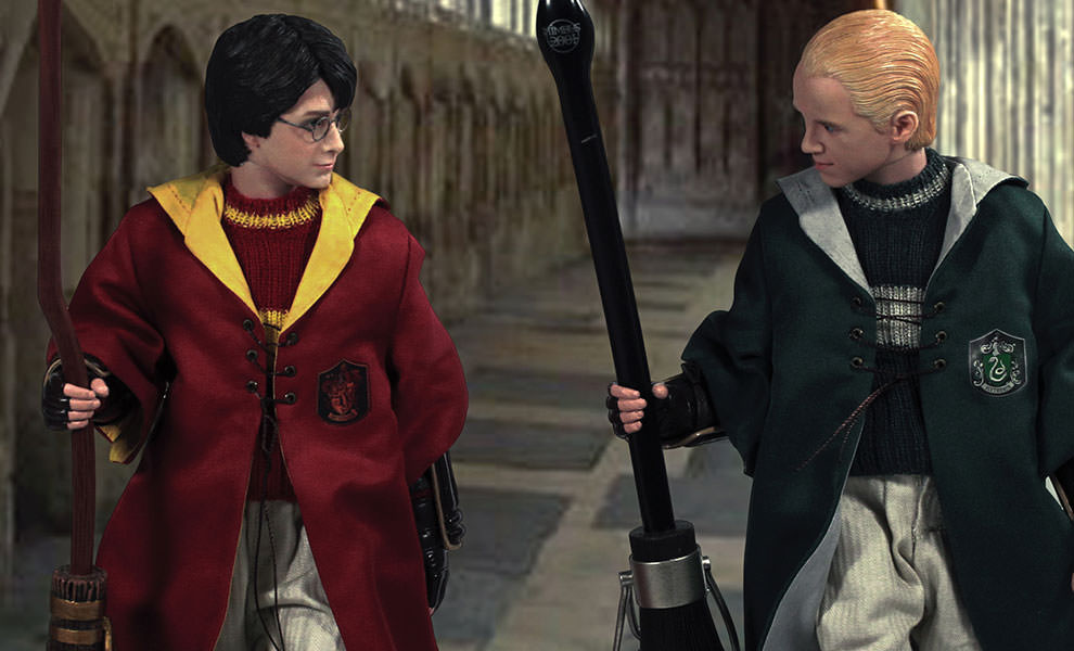 Gallery Feature Image of Harry Potter and Draco Malfoy Quidditch Version Sixth Scale Figure - Click to open image gallery