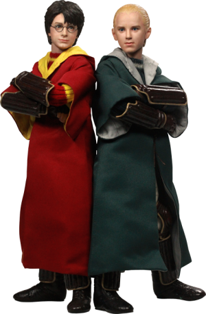 Harry Potter and Draco Malfoy Quidditch Version Sixth Scale Figure