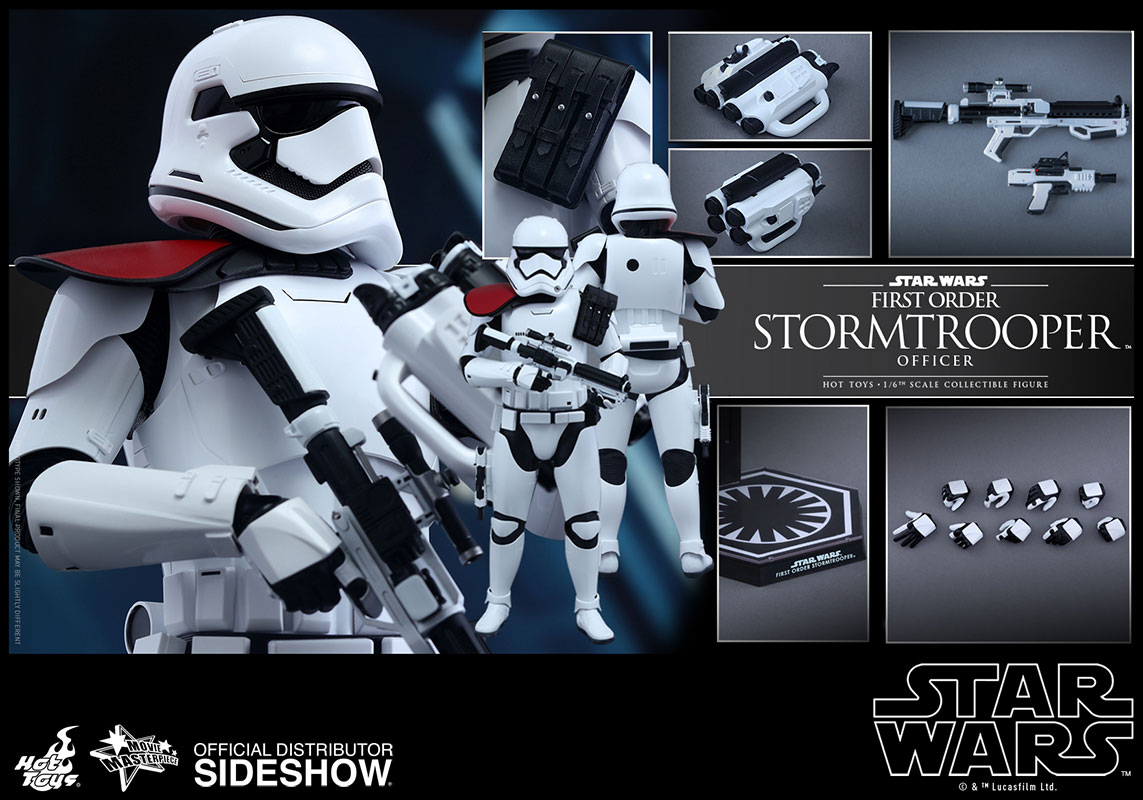 Star Wars First Order Stormtrooper Officer Sixth Scale Figur