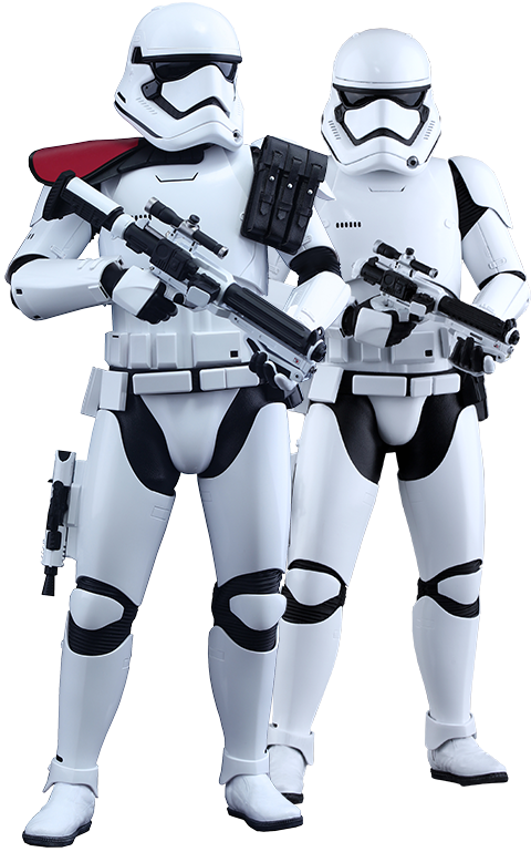 Hot Toys First Order Stormtrooper Officer and Stormtrooper  Sixth Scale Figure