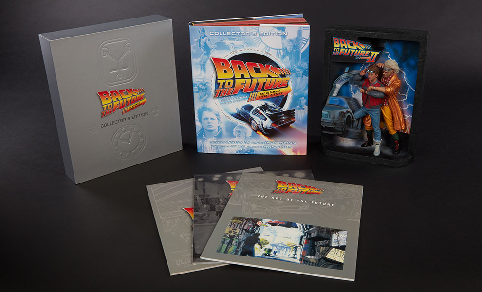 Gallery Feature Image of Back to the Future Sculpted Movie Poster and The Ultimate Visual History Collectors Edition Collectible Set - Click to open image gallery