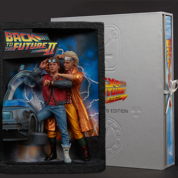 Back to the Future Sculpted Movie Poster and The Ultimate Visual History Collectors Edition Collectible Set