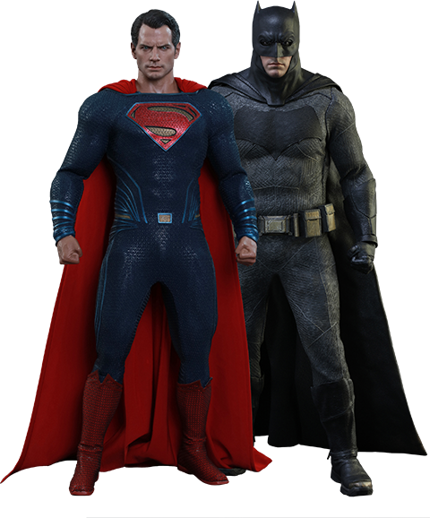 Hot Toys Batman Special Edition and Superman  Sixth Scale Figure
