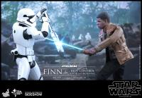 Gallery Image of Finn and First Order Riot Control Stormtrooper Sixth Scale Figure