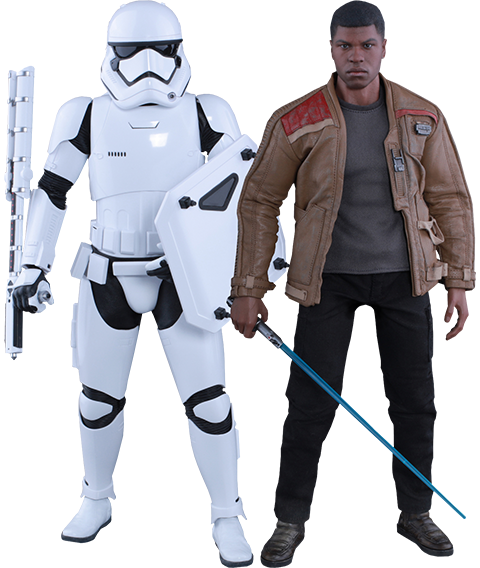 Hot Toys Finn and First Order Riot Control Stormtrooper Sixth Scale Figure