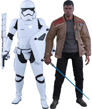 Finn and First Order Riot Control Stormtrooper Sixth Scale Figure