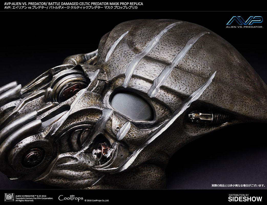 Alien VS Predator Battle Damaged Celtic Predator Mask Prop R