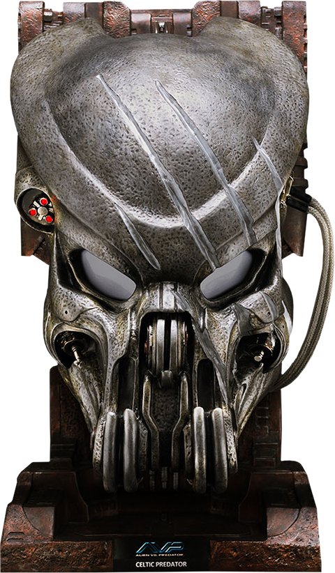 CoolProps Battle Damaged Celtic Predator Mask Prop Replica