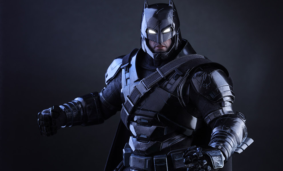 Gallery Feature Image of Armored Batman Black Chrome Version Sixth Scale Figure - Click to open image gallery
