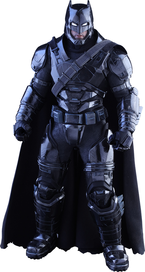 Hot Toys Armored Batman Black Chrome Version Sixth Scale Figure