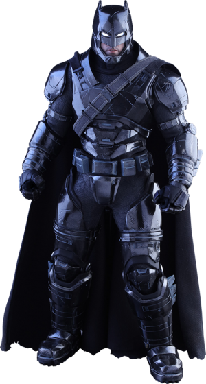 Armored Batman Black Chrome Version Sixth Scale Figure
