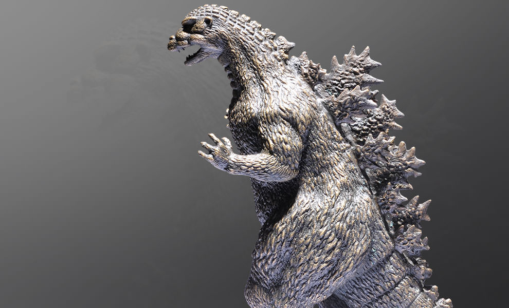 Gallery Feature Image of Kawakita Godzilla Bronze Statue - Click to open image gallery