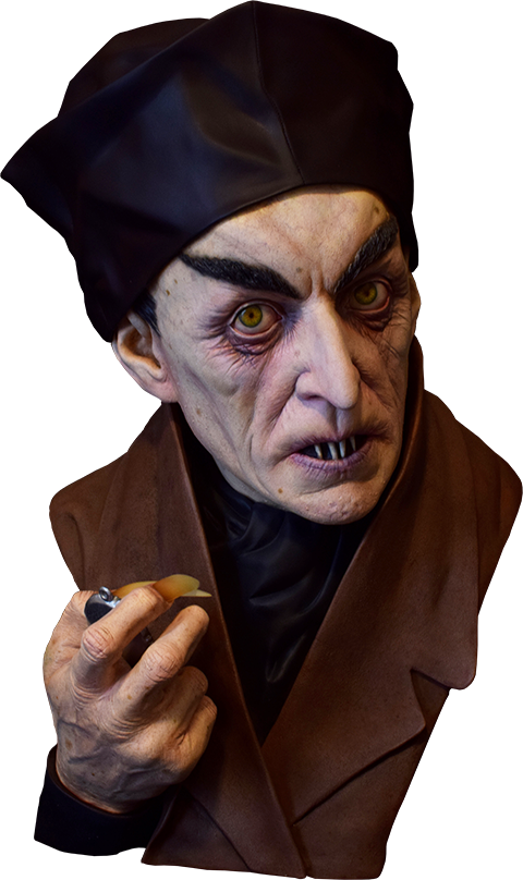 Black Heart Enterprises, LLC Classic Painted Nosferatu Life-Size Bust