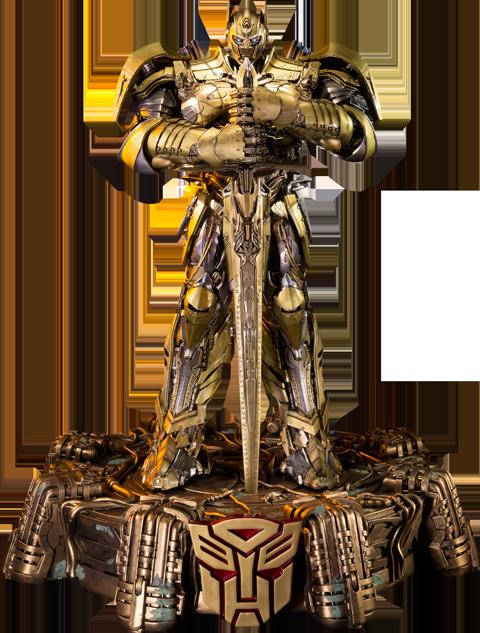 Prime 1 Studio Optimus Prime Knight Edition Gold Version Polystone Statue