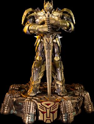 Optimus Prime Knight Edition Gold Version Polystone Statue