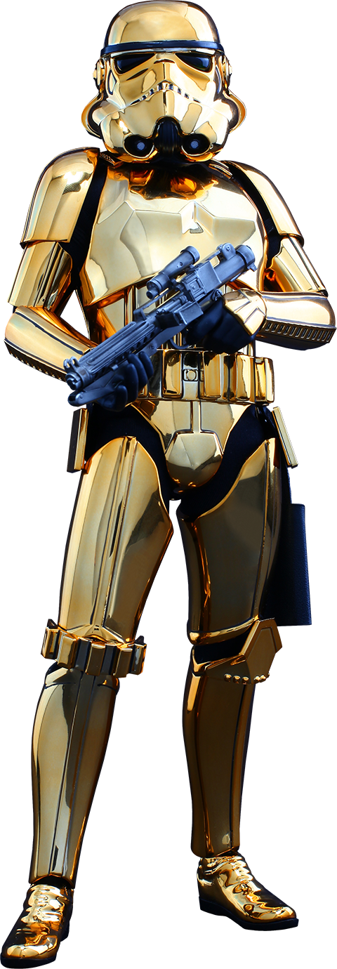 Hot Toys Stormtrooper Gold Chrome Version Sixth Scale Figure