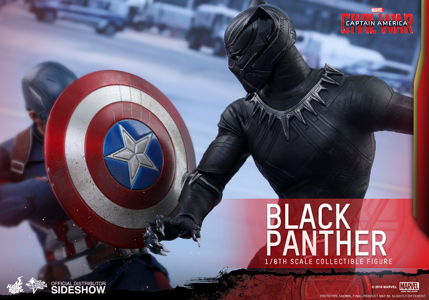 56239d16cda Marvel Black Panther Sixth Scale Figure by Hot Toys