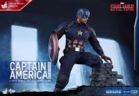 Gallery Image of Captain America Battling Version Sixth Scale Figure